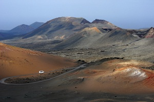 Route through Timanfaya National Park