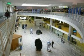 Arrivals hall at Arrecife airport