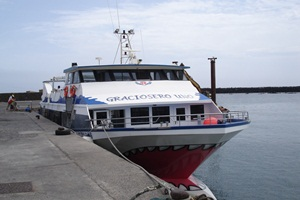 Ferry in Orzola