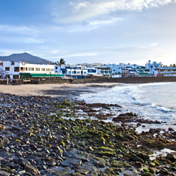 Another view of Playa Blanca town beach